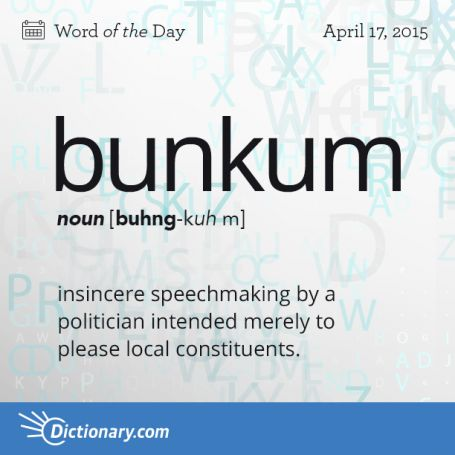 bunkum definition