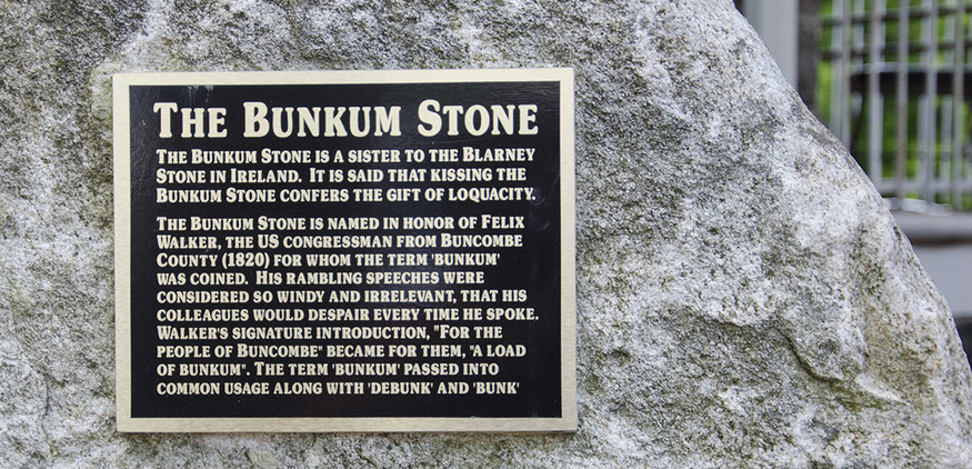 History of the Bunkum Stone
