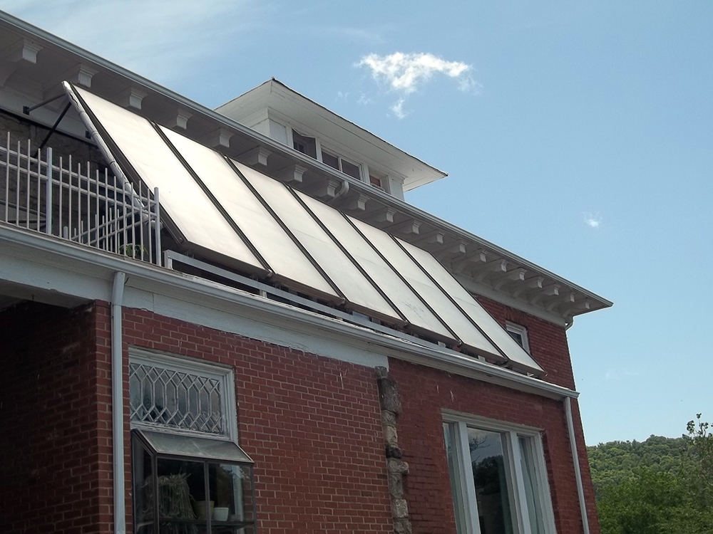 Solar panels on the Gray Rock Inn